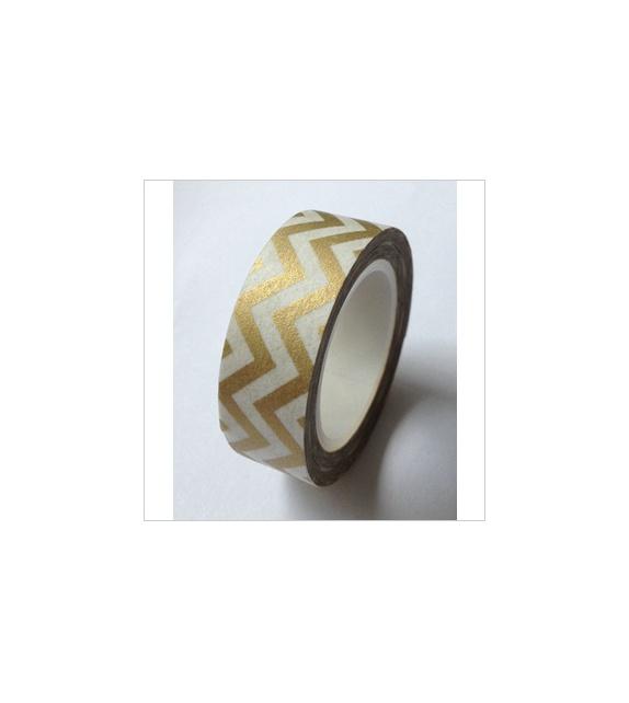 Masking tape - Chevrons dans la longueur - Gold or