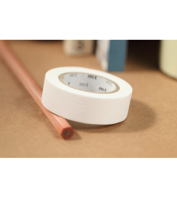 Masking Tape mt uni - Blanc Mat (matte white) 10m