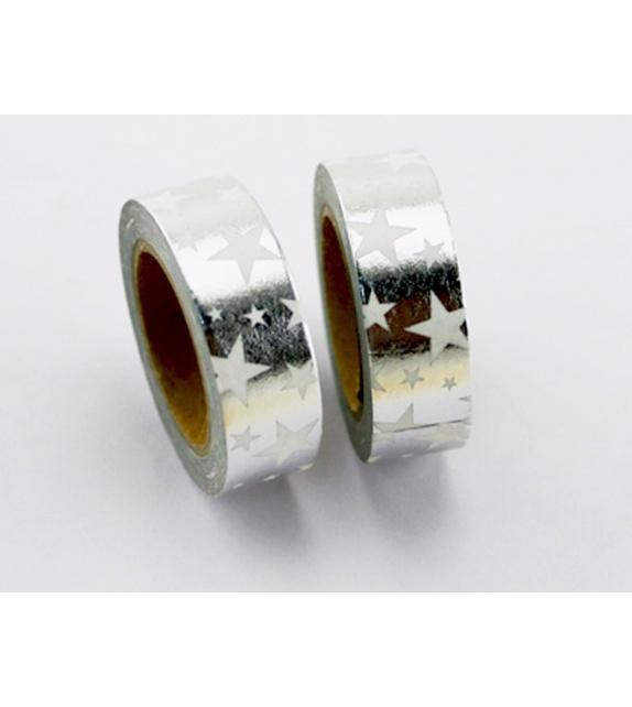 Masking Tape Foil Tape - Etoiles Argent