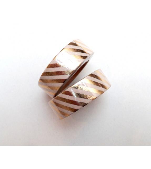 Solo Foil Tape - Diagonals medium - pale gold