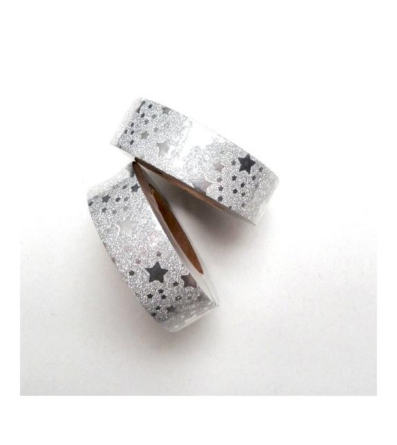 Solo Glitter - silver stars