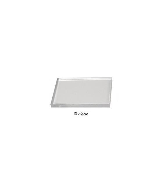 Bloc acrylique pour tampons montés sur mousse ez-mount - 10 x 6 cm