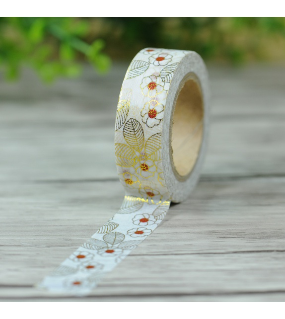 Solo Foil Tape - japanese flowers in gold