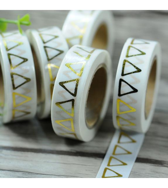 Solo Foil Tape - Triangles - Gold
