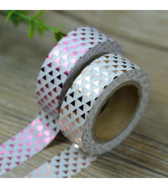 Masking Tape Foil Tape - petits triangles cuivre
