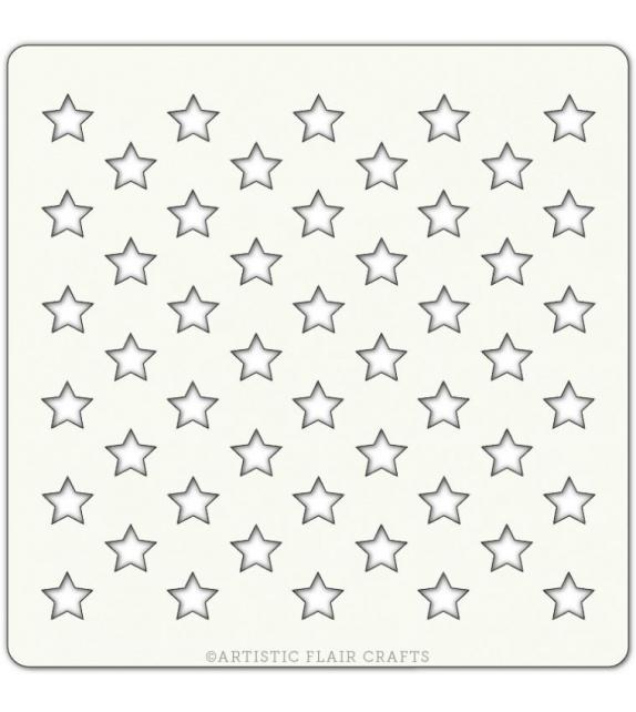 """Stencil 4"""" x 4"""" - All Stars"""