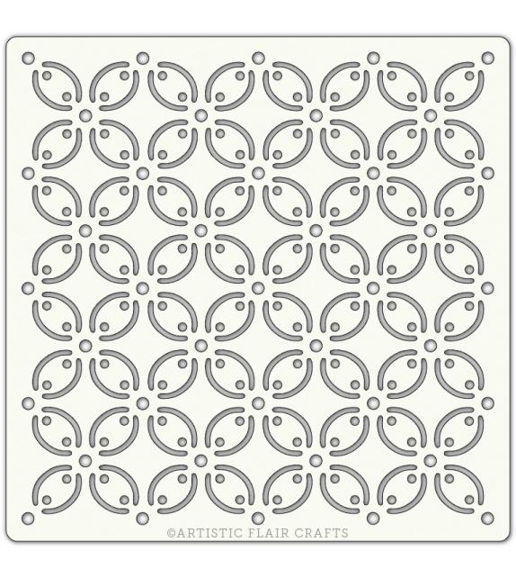 """Stencil 6""""x 6"""" - Petal Tile"""