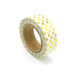 Masking Tape Foil Tape - Petits coeurs or