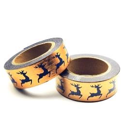 Masking Tape Foil Tape - Cerf marine sur fond cuivré