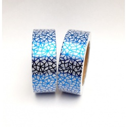 Masking Tape Foil Tape - Craquelures bleu fond blanc