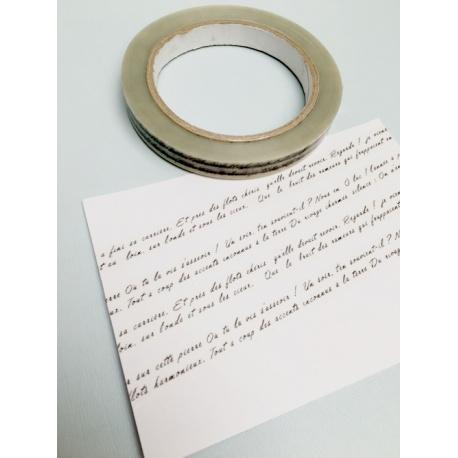 Déco Tape Transparent - Texte manuscrit en français