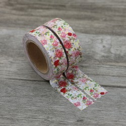 Masking Tape Foil Tape - Roses style liberty reflets or