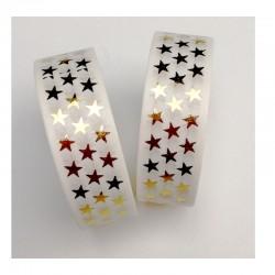 Masking Tape Foil Tape - Etoiles or Brillantes