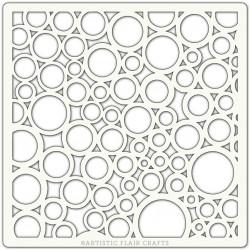 Pochoir 15 x 15 cm - Cercles variés (Random Circles)