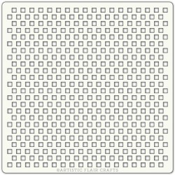Pochoir 15 x 15 cm - Petits carré (tiny squares)