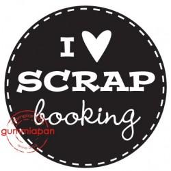 Tampon Gummiapan - I love SCRAPbooking