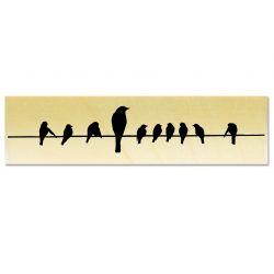 Tampon Oiseaux sur un fil