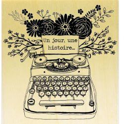 Retro Typewriter Fleurie Un jour, une histoire ...