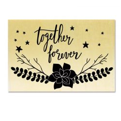 Rubber stamp - Together Forever
