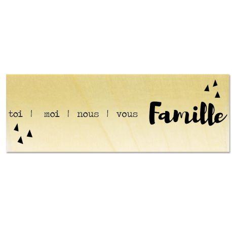 Rubber stamp - Gwen Scrap - toi moi nous Famille