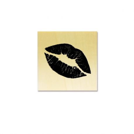 Rubber stamp - Lips kiss