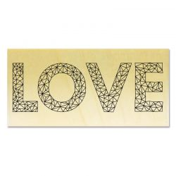 Rubber stamp - Gwen Scrap Collection 2- LOVE graphic
