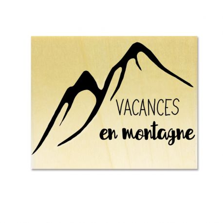 Rubber stamp - Gwen Scrap Collection 6 - Vacances en montagne