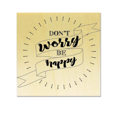 Rubber stamp - Gwen Scrap Collection 3 - Don't worry be happy