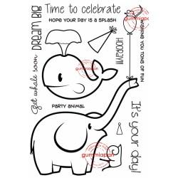 Tampon Gummiapan - Planche Animaux enfants Elephant Baleine ...
