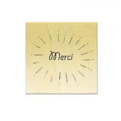 Rubber stamp - Merci