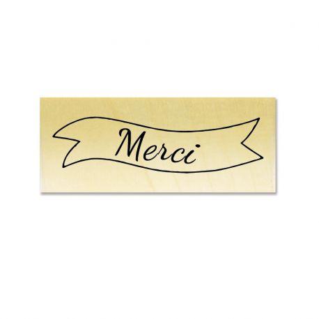 Rubber stamp - Merci banner