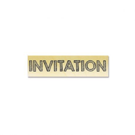 Rubber stamp - Gwen Scrap Collection 3 - INVITATION