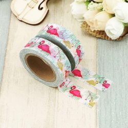 Masking Tape - Flamants dans verdure