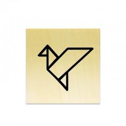 Tampon Oiseau origami évidé
