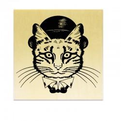 Tampon Chat avec chapeau
