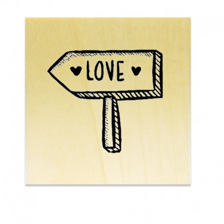 Rubber stamp - Love Sign