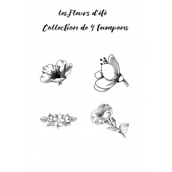 Tampon Collection Fleurs - 4 Tampons