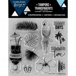 Tampons Clear Florilèges Design - Soleil & Mojito
