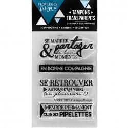 Tampons Clear Florilèges Design - Bonne compagnie