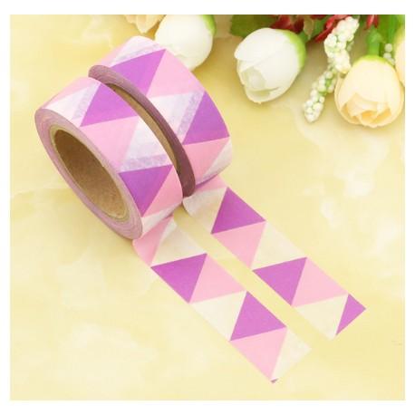 Masking Tape - Triangles Fanions Rose et Mauve