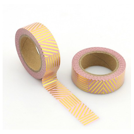 Solo Foil Tape - Chevrons in length holographic colorful