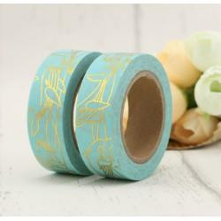 Masking Tape Foil Tape - Baleines or fond mint