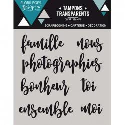 Tampon Clear Florilèges Design - Petits mots 1