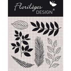 Tampon Clear Florilèges Design - Mix de feuillages
