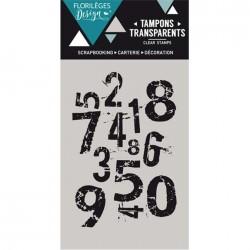 Tampon Clear Florilèges Design - Chiffres mêlés