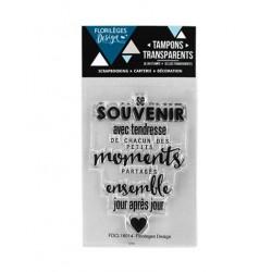 Tampon Clear Florilèges Design - Se souvenir avec tendresse