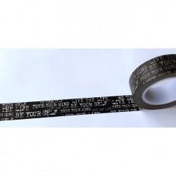 Masking Tape - Texte machine écrire fond noir