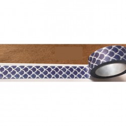 Masking Tape - Ecailles fond bleu