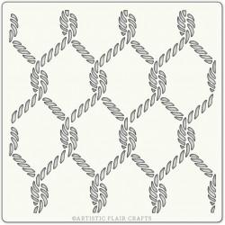 Pochoir 15 x 15 cm - Corde (rope)