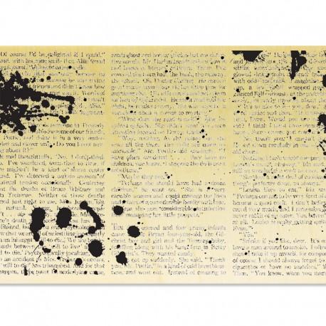 COLLECTION - Du Texte et du Grunge - Livre avec tâches d'encre